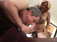 Interesting black bull Jason B gets his pain meaty cock sucked good off out of one's mind offbeat bisex