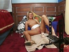 Fair-haired asian Jessa Rhodes round tiny breasts and