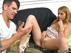 Yummy pornstar Lexi Belle is totally fuckable together with