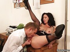 Veronica Avluv round small bottom coupled with clean twat kills