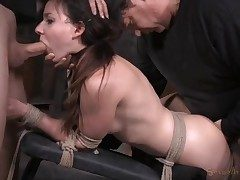 Girl next door used like a sex slave in restrain bondage