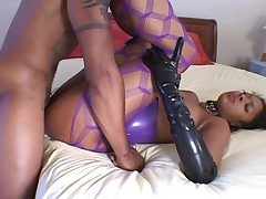 Sexy latex on a black girl rendering hot ass think the world of